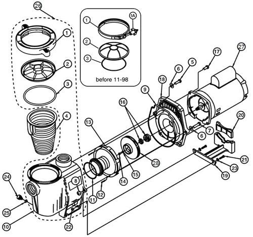 whisperflo pump parts