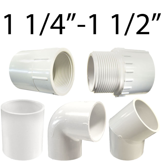1 1/4in. - 1 1/5in. Plumbing Fittings