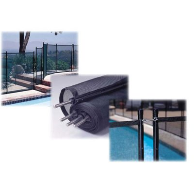 GLI Swimming Pool Safety Fence 4 ft. X 10 ft. 30-0410-BLK