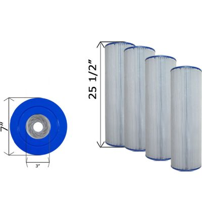 Cartridge Filter Hayward CX870RE C-7488 C-7487 - 4 Pack