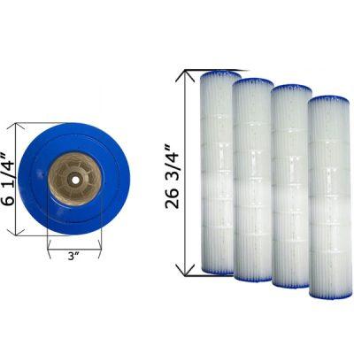 Cartridge Filter Pentair Quad D.E. 80 178655 C-6980 - 4 Pack